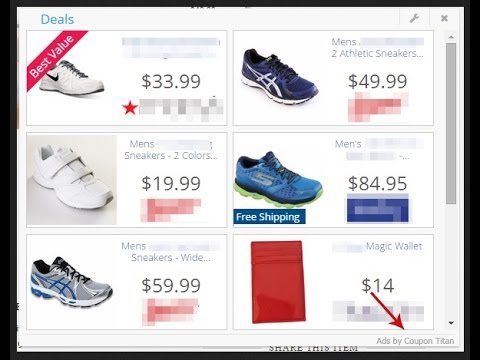 remove coupon titan ads from chrome firefox ie youtube