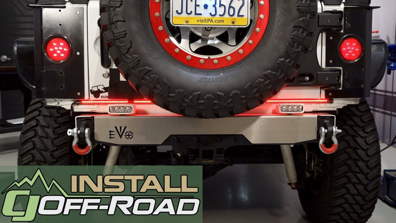 hight resolution of putco 92009 48 jeep wrangler jk switchblade led tailgate light bar with reverse led 48 2007 2018