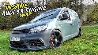 INSANE AUDI S3 ENGINE 356BHP VW CADDY *DOES NOT END WELL*