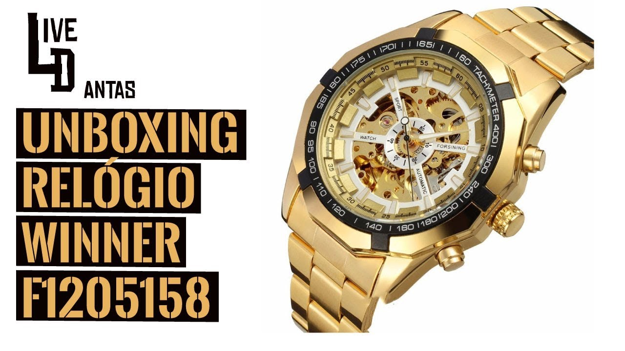 beb7f80c12f Unboxing Relógio Winner Automático F1205158 - YouTube