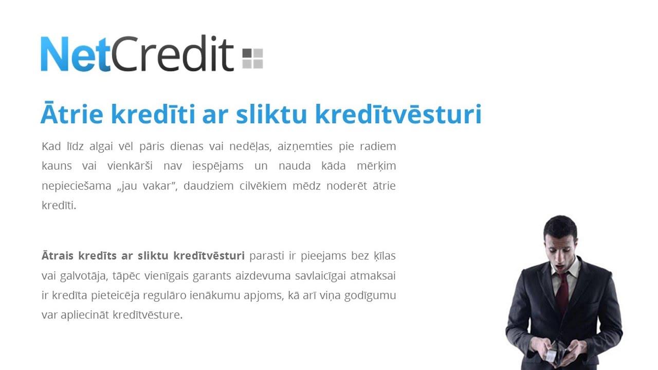 Ātrie kredīti ar sliktu kredītvēsturi | Netcredit.lv - YouTube