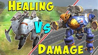 Healing Vs Damage - What Gives Better Stats? War Robots Gameplay WR