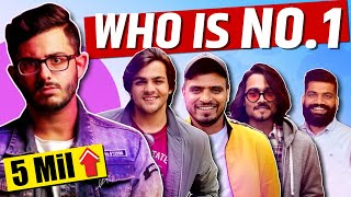Who is No.1 Youtuber of India | Top 10 Indian Youtubers | Carryminati