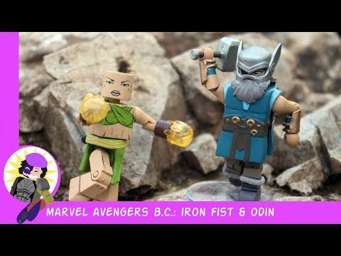 Minimates Marvel Avengers B.C. Iron Fist And Odin Review