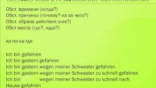 Немецкий. Порядок слов в предложении. Обстоятельства. Урок 38