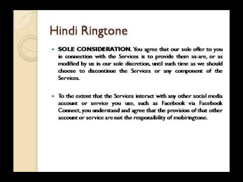 hindi ringtoneMobiRingtone