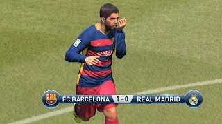 Pro Evolution Soccer 2016 - FC Barcelona vs Real Madrid Gameplay (1080p60fps)