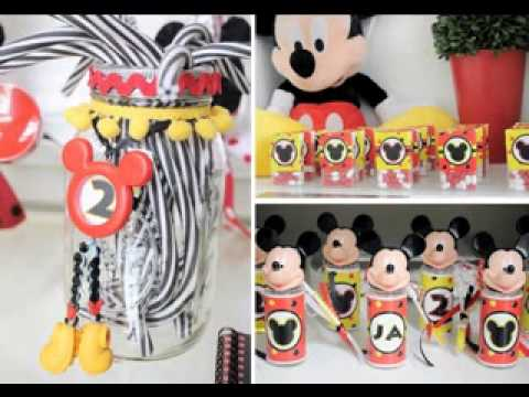 Mickey mouse baby shower decorations youtube for Baby mickey decoration ideas