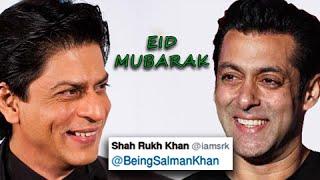 Shahrukh Wishes Salman Eid Mubarak on Twitter - Watch Now!