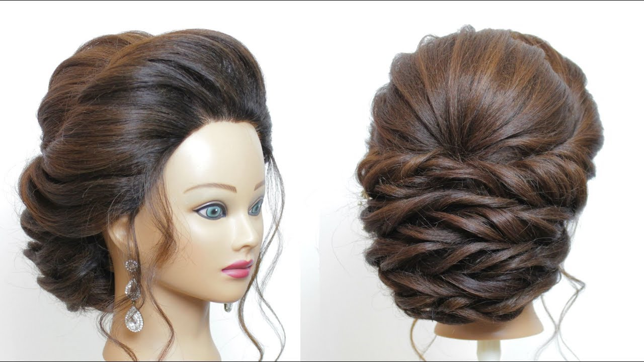 new bridal hairstyle for long hair step by step. perfect wedding updo