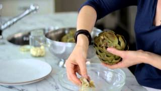 How To Cook Artichokes With Tomato Basil Salad