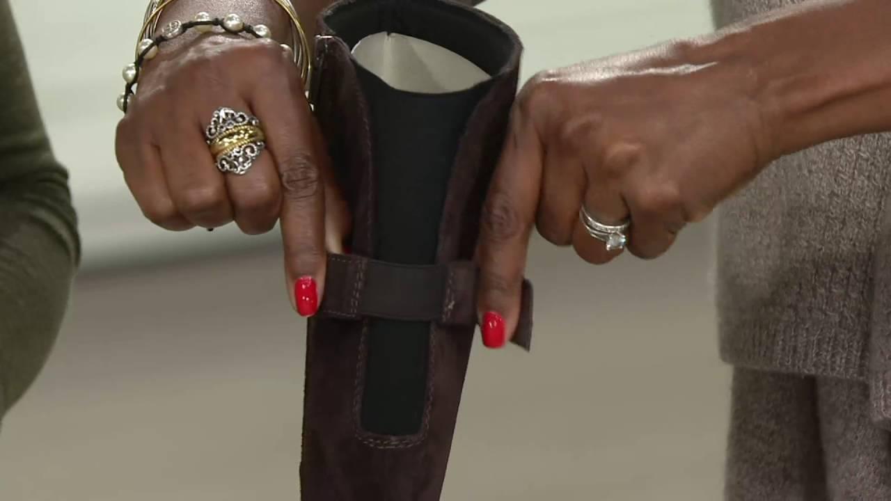 1f420f9fee2 Clarks Leather High Shaft Boots - Faralyn Dawn on QVC - YouTube