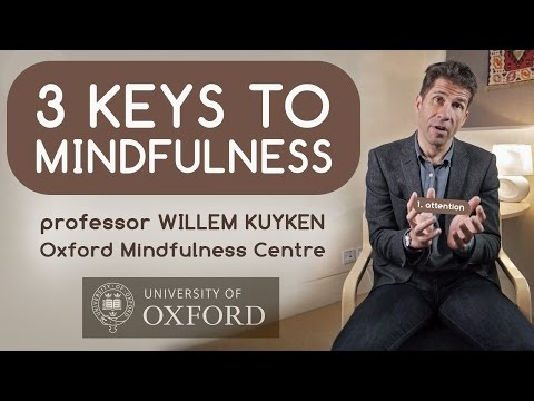 3 Keys to Mindfulness with Professor Willem Kuyken (Oxford Mindfulness Centre )