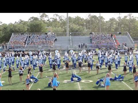 Collier County Band Show: BCHS Cougar Marching Band 10-21-17