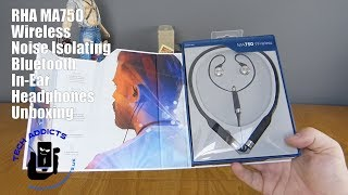 rHA MA750 Wireless Noise Isolating Bluetooth In Ear Headphones Unboxing