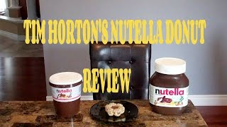 TIM HORTON'S Nutella Donut Review!!