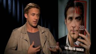 """Ryan gosling learned that the campaign trail can get ugly in """"the ides of march."""" it reminded him why it's hard to be honest politics. but he told me ..."""