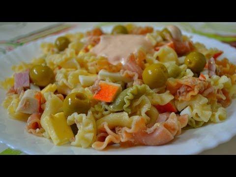 Рецепт Испанский Салат из Макарон - Ensalada de Pasta