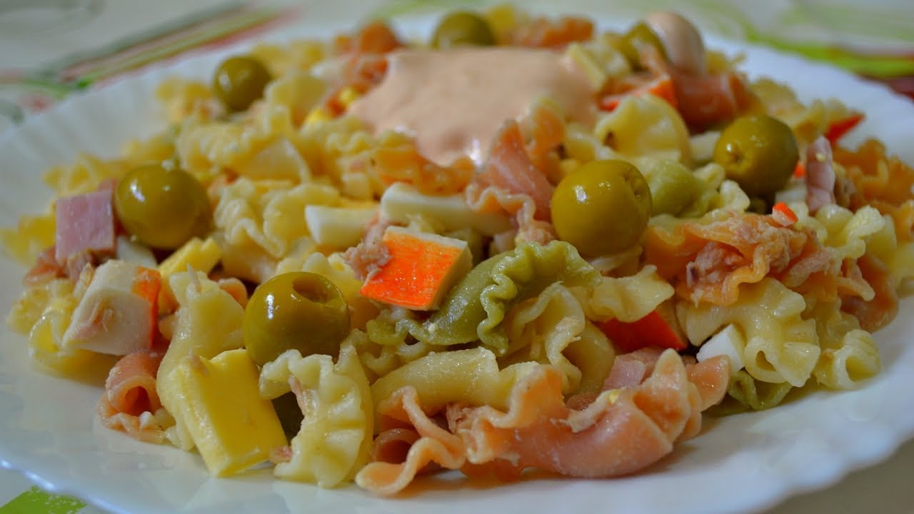 Испанский Салат из Макарон - Ensalada de Pasta! - YouTube 668ccc78027