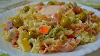 Испанский Салат из Макарон - Ensalada de Pasta!