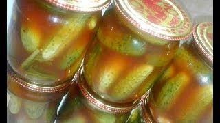 Хрустящие огурцы с кетчупом чили.оОчень вкусные.