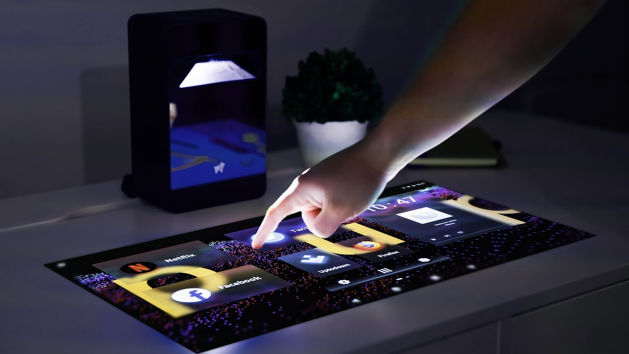 This Projector Turns Any Desk Into a Touchscreen - YouTube