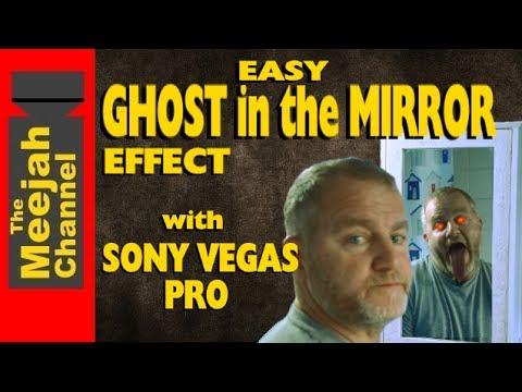 Easy Ghost in the Mirror Horror effect. in Sony Vegas pro