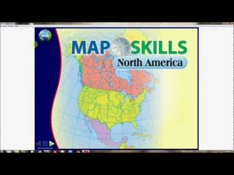 Map Skills: North America Interactive Whiteboard Software