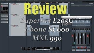 [Hardwaretest] Mikrofonvergleich | Superlux E205U | MXL 990 | the t.bone SC600