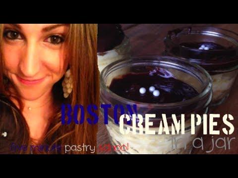 Boston Cream Pie in a Jar | Five Minute Pastry School
