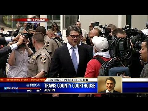 Rick Perry booked on abuse of power charges