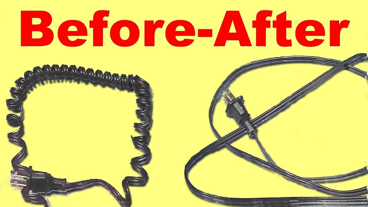 Straighten And Uncoil A Cable Or Coiled
