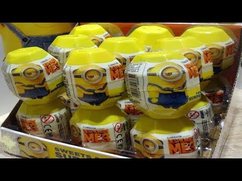 Minions Despicable Me 3 Kinder 18 Surprise Eggs from Minions Movie