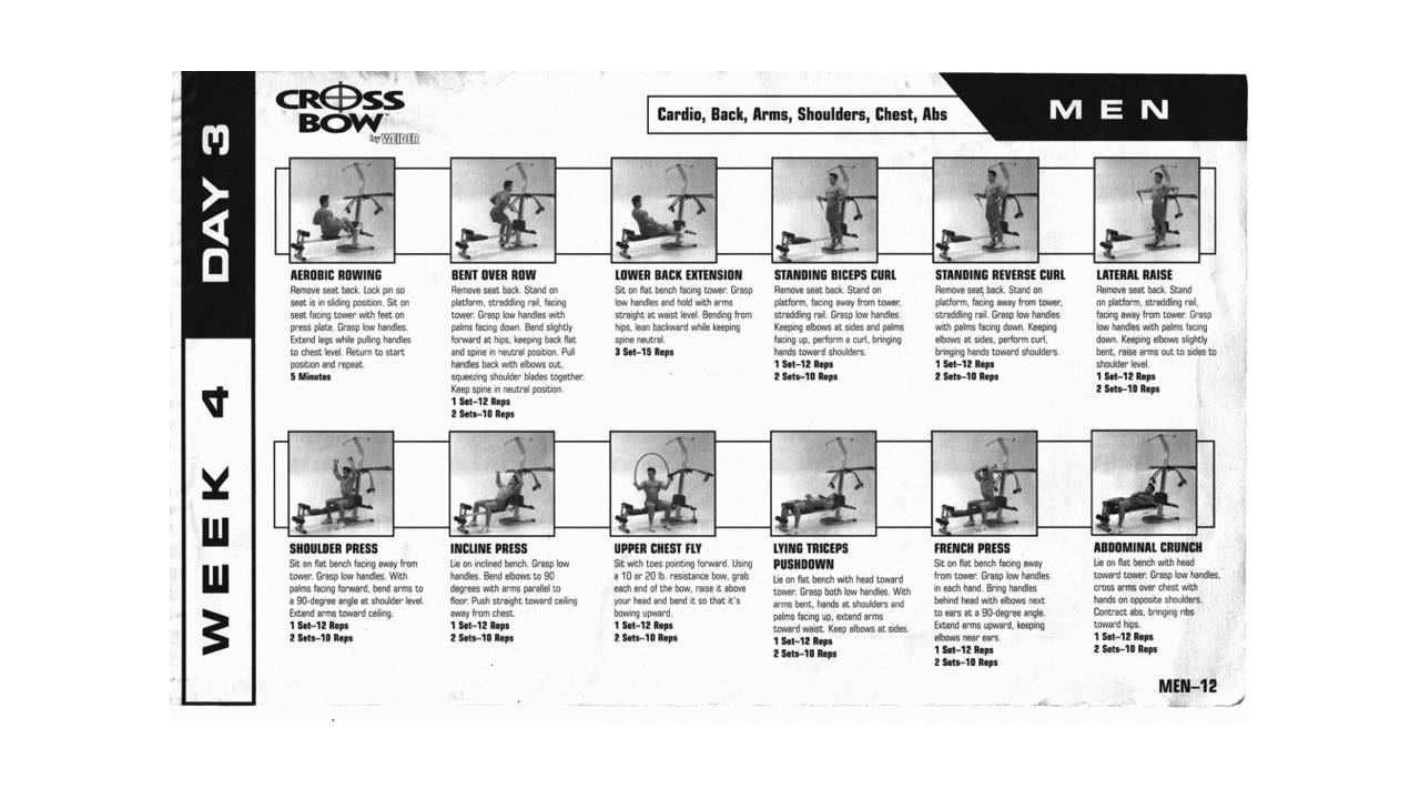 Crossbow by weider exercise manual.