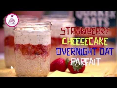How to make Strawberry Cheesecake Overnight Oat Parfait