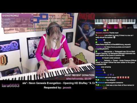Lara plays Neon Genesis Evangelion OP