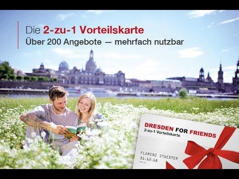 DRESDEN FOR FRIENDS - Die 2-zu-1 Vorteilskarte für Dresden