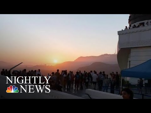 Stargazers Celebrate Anniversary Of Apollo 11 Liftoff At Griffith Observatory  NBC Nightly News