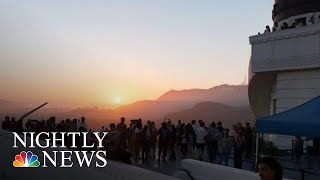 Stargazers Celebrate Anniversary Of Apollo 11 Liftoff At Griffith Observatory | NBC Nightly News