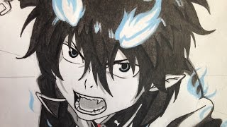 how to draw Rin Okumura (Blue Excorcist)