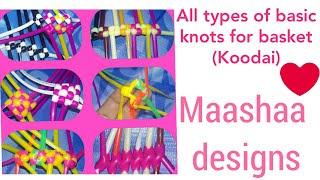 Basic knots for basket making