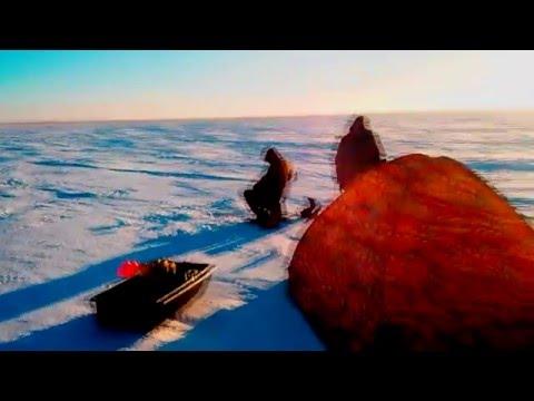 Зимняя рыбалка в Караганде , озеро Сасыколь.