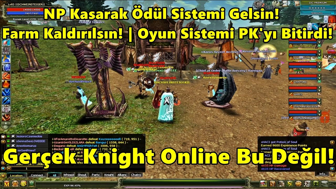 BvB - Farm Kaldırılsın | PK Attıkça Ödül Sistemi Gelsin! | PK Atan Adama Destek Yok! | Knight Online