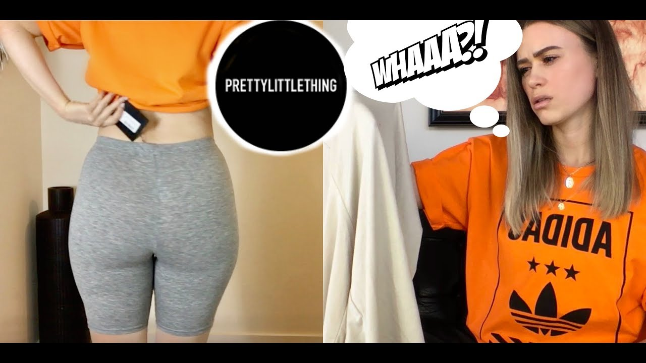 PRETTY LITTLE THING try on haul ft. cycling shorts - YouTube 7d0215603