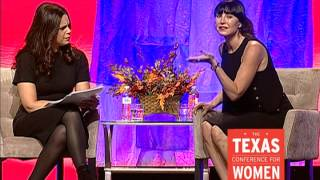 Soledad OBrien and Tamara Mellon at the 2014 Texas Conference for Women
