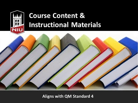 Quality Online Course Design: Course Content & Instructional