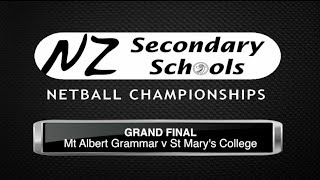 NZ Secondary Schools Final 2013  - MAGS v St Mary