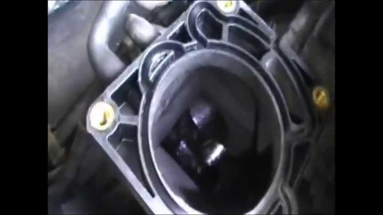 чистка дроссельной заслонки w210