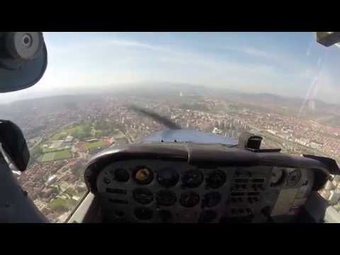 Cessna 172 with GoPro, airport Nis (Stardust - Music Sounds Better With You)