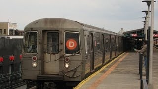 New York City Subway: R-68 on (D) to Coney Island... Short-Ride on Sea Beach Line